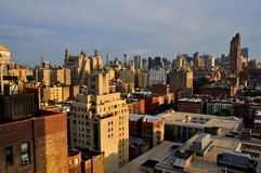 NYC: Upper West Side Vista and Skyline Royalty Free Stock Images