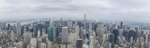 NYC Uptown. Panoramic view of New York city from Empire State building Royalty Free Stock Images