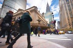 NYC Uroczysta Środkowa ulica Obrazy Royalty Free