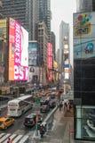 NYC/USA - 29 DEZ 2017 - известный бульвар Нью-Йорка квадратные времена стоковое изображение