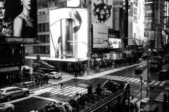NYC/USA - 29 DEZ 2017 - известный бульвар Нью-Йорка квадратные времена стоковое фото rf