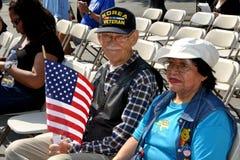 NYC : Vétérinaire de Guerre de Corée à l'événement de Jour du Souvenir Images libres de droits