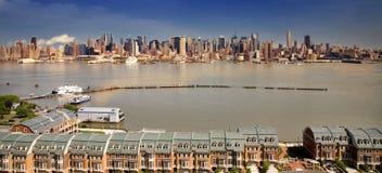 NYC van de kant van Jersey Stock Foto
