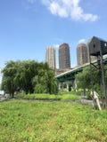 NYC van het Zuiden van het Rivieroeverpark Stock Foto's