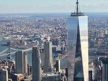 NYC van hierboven royalty-vrije stock foto's