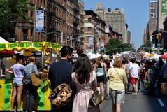 NYC: Viale di Amsterdam. Festival della via Immagine Stock Libera da Diritti