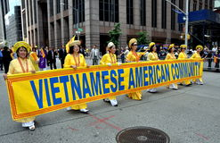 NYC; Vietnamese Marchers in Immigrants Parade Stock Photo