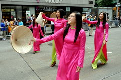 NYC: Vietnamese Women in Parade Stock Photography