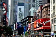 NYC: View down Broadway to Times Square Stock Photography
