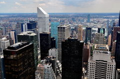 NYC: View of East Side Manhattan Towers Stock Images