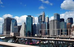 NYC: View of Manhattan's Financial District Royalty Free Stock Image