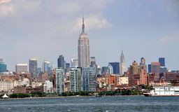 NYC: View of Manhattan Sklyline Royalty Free Stock Photo
