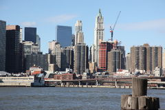 NYC, view to Manhattan Stock Photography
