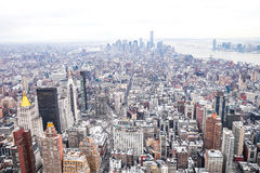 NYC view. View of NYC from top of Empire State Building in winter Royalty Free Stock Photo
