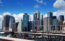 NYC: Vista del districto financiero de Manhattan imagen de archivo libre de regalías