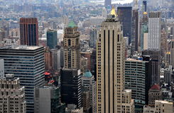 NYC:  Vista of Midtown East Manhattan Royalty Free Stock Images