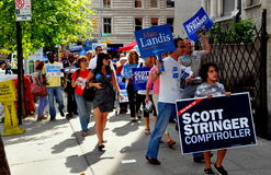 NYC: Volunteers Campaigning for Democrats Stock Images