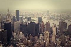 NYC von oben Stockbild