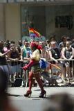 NYC Vrolijk Pride March Stock Afbeeldingen