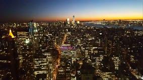 NYC vu de l'Empire State Building, cinquante-neuvième étage Photo stock