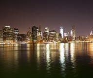 NYC w centrum linia horyzontu Zdjęcia Stock