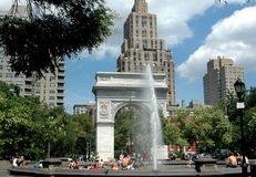 NYC: Washington Square Stock Photo
