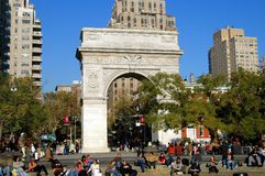 NYC:  Washington Square Park and Arch Stock Photos