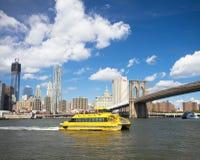 NYC Wasser-Strasse Stockfoto