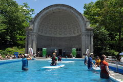 NYC: Water Pool in Central Park Stock Photography