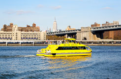 The NYC water taxi in East River Royalty Free Stock Image