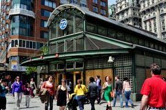 NYC: West 72nd Street Subway Kiosk Royalty Free Stock Photography