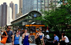 NYC:  West 72nd Street Subway Kiosk Royalty Free Stock Photos