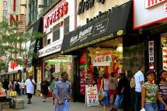 NYC: West125. Straße in Harlem Stockfotografie