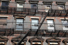 NYC - windows and old stairways Royalty Free Stock Photos
