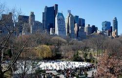 NYC: Wollman Eisbahn in Central Park Lizenzfreie Stockfotos