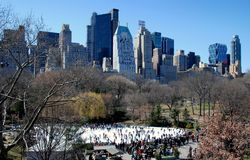 NYC: Wollman Skating Rink in Central Park Royalty Free Stock Photos