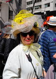 NYC: Woman In Easter Bonnet Stock Photography
