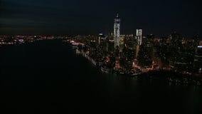Nyc wybrzeże przy nocą zbiory wideo