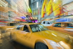 NYC Yellow Taxi Focus Stock Images