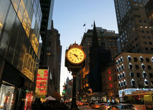 NYC zegar Zdjęcie Stock