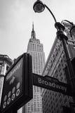 NYC znaki uliczni B&W obrazy stock