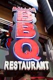 在NYC的餐馆BBQ 免版税库存照片