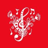 Nyckel- dekorativ stil för musik vektor illustrationer
