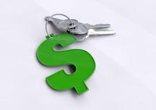 Nyckel- finansiell framgång, öppningsdörrar till din framtid och kapaciteten för att tjäna pengarUS dollar Vektor Illustrationer