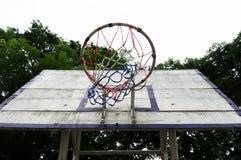 Nyckel- gammalt för basket som tas från det nedersta hörnet fotografering för bildbyråer