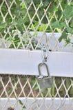 Nyckel- lås dörren in Arkivbild