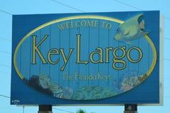 Nyckel- Largo undertecknar in Florida tangenter Royaltyfri Fotografi