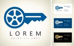 Nyckel- logo för bil vektor illustrationer