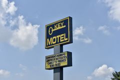 Nyckel- motell Memphis, TN royaltyfri fotografi