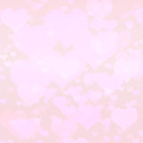 Nyckel- rosa hjärtabakgrund för kick royaltyfri illustrationer